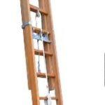 Échelle à coulisse à corde 2 plans bois